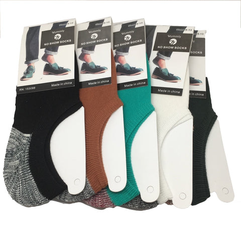 10 Pairs, 5 different colors Low Cut No Show Socks For Men -Size:10-13, Soc39 - watangem.com