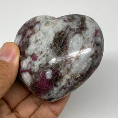 "213.7g, 2.5""x2.8""x1.4"" Rubellite Heart Polished Healing Crystal Gemstone, B3710"
