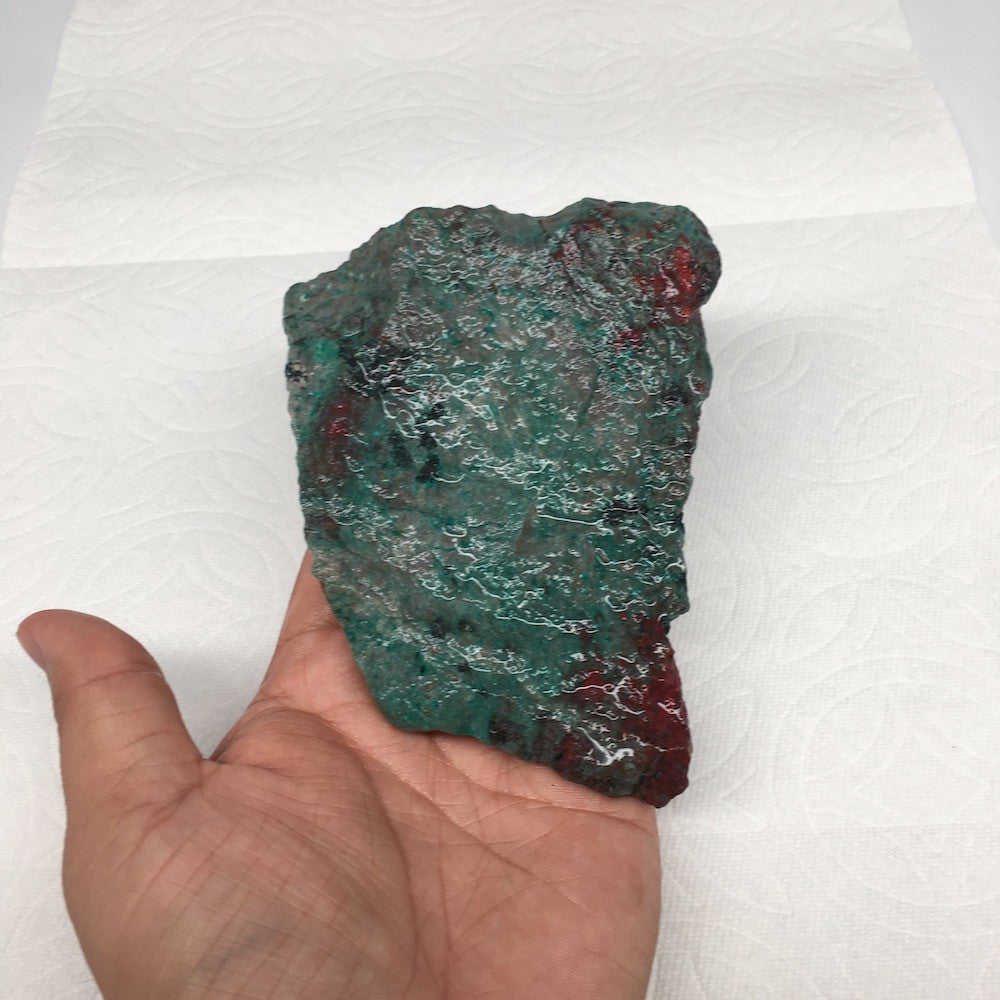 "372g, 4.9""x 3.6""x 1.3"" Rough Sonora Sunset Chrysocolla Cuprite from Mexico, SR10 - watangem.com"