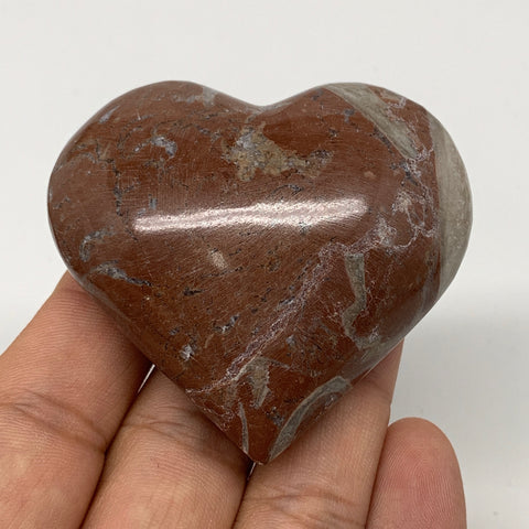 "89.4g,2.1""x2.3""x1""Natural Untreated Red Shell Fossils Heart Reiki Energy,F926"