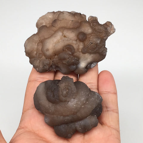 "158.6g, 2pcs, 2""-2.8"" Natural Chalcedony Nodules Specimens @Morocco,MF3106"