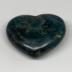 "330.3g, 2.8"" x 3.4"" x1.3"", Natural Blue Apatite Heart Reiki Energy, B5615"