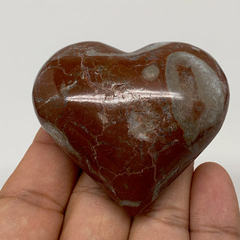 "87.6g,2""x2.2""x1""Natural Untreated Red Shell Fossils Heart Reiki Energy,F928"