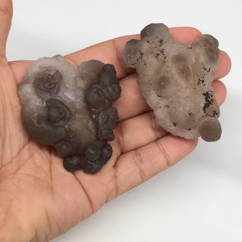 "138.6g,2pcs, 2.4""-2.5"" Natural Chalcedony Nodules Specimens @Morocco,MF3111"