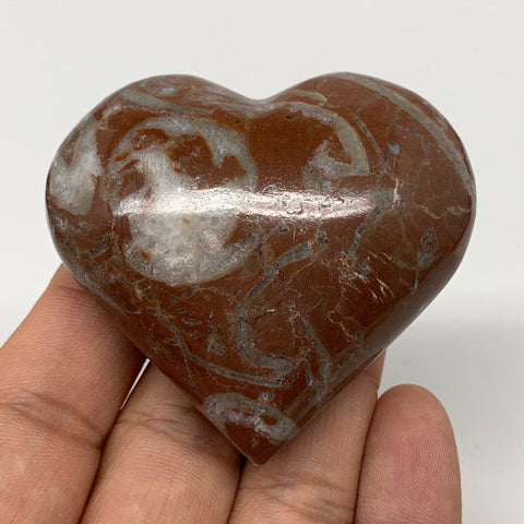 "99.1g,2.1""x2.3""x1.1""Natural Untreated Red Shell Fossils Heart Reiki Energy,F932"