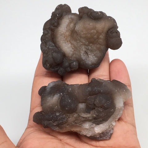 "156.3g,2pcs, 2.2""-2.5"" Natural Chalcedony Nodules Specimens @Morocco,MF3112"