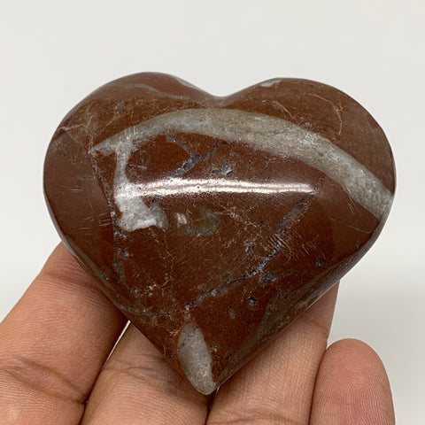 "83.6g,2.1""x2.3""x1""Natural Untreated Red Shell Fossils Heart Reiki Energy,F933"