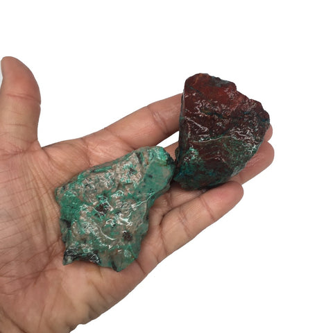 "188.7g, 3.2""-2.8"", 2x Rough Sonora Sunset Chrysocolla Cuprite from Mexico,SR27 - watangem.com"