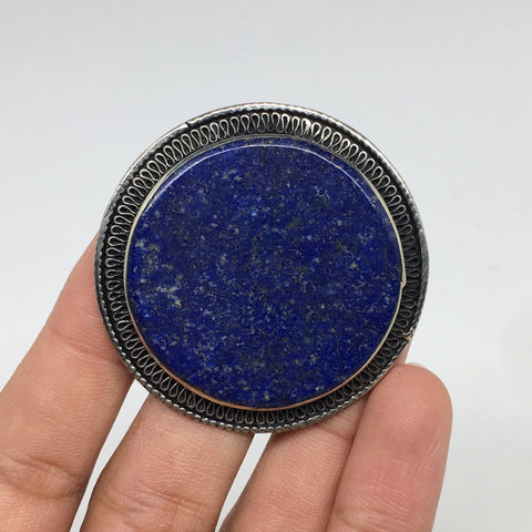 Antique Afghan Turkmen Tribal Round Lapis Lazuli Kuchi Ring Boho Statement,TR72