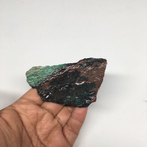 "120.2g, 3.6""x2""x0.9"" Rough Sonora Sunset Chrysocolla Cuprite from Mexico,SR47 - watangem.com"