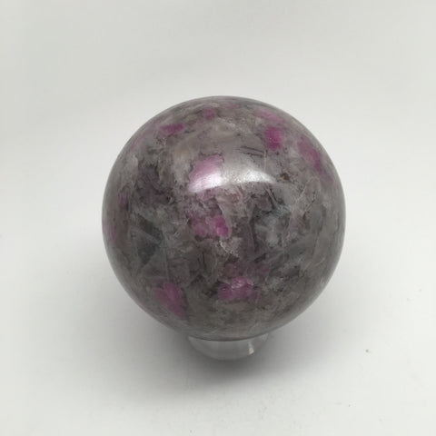 720 Grams Natural Gemstone Ruby in Crystal Feldspar Sphere @India, IE114 - watangem.com