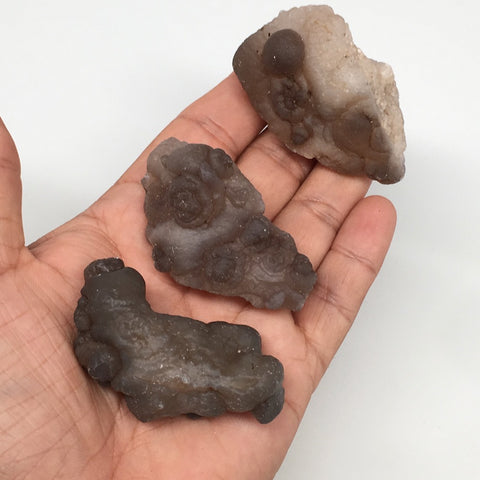 "147.3g,3pcs, 2.2""-2.3"" Natural Chalcedony Nodules Specimens @Morocco,MF3138"