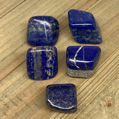 "137.3g, 1""-1.3"", 5pcs,Natural Small Lapis Lazuli Tumbled Glassy Polished,F2927"