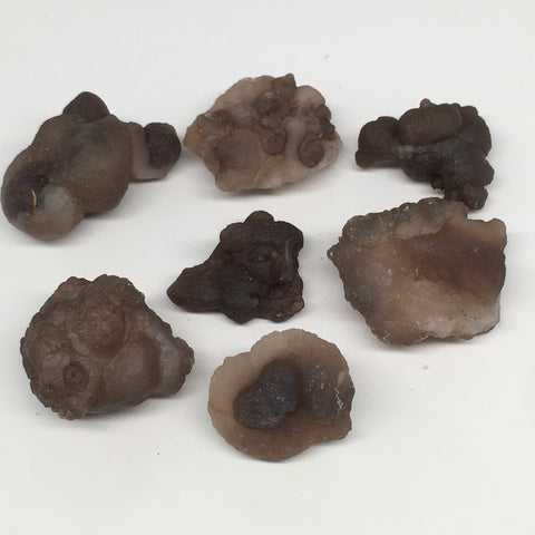 "179.8g,7pcs, 1.3""-1.9"" Natural Chalcedony Nodules Specimens @Morocco,MF3157"