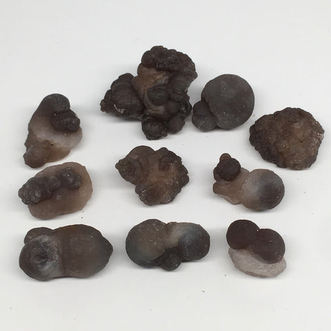 "186.9g,10pcs, 1.1""-1.8"" Natural Chalcedony Nodules Specimens @Morocco,MF3159"
