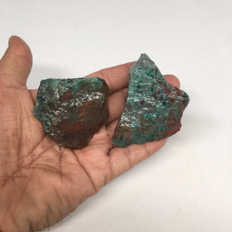 "170.9g, 1.8 -2.8"" 2pcs Rough Sonora Sunset Chrysocolla Cuprite from Mexico,SR76"