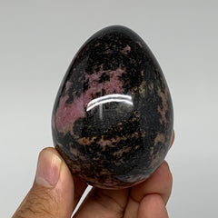 "286.5g, 2.6""x1.9"" Natural Untreated Rhodonite Egg from Madagascar, B4702"