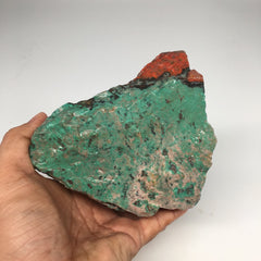 "1156g, 4.8""x 4.8""x 3"" Rough Sonora Sunset Chrysocolla Cuprite from Mexico, SR08"
