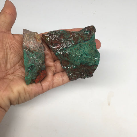 "185.3g,2.6""-2.7"" 2x Rough Natural Sonora Sunset Chrysocolla Cuprite @Mexico,SR01 - watangem.com"