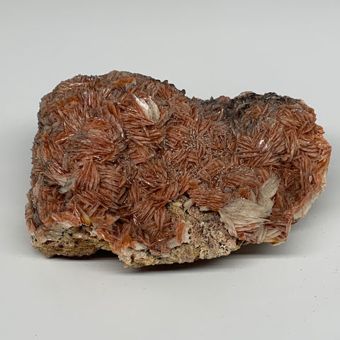 "2428g (5.35 lbs), 7""x5x3"", Large Golden Barite Mineral Specimen @Morocco, B10979"