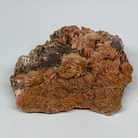 "1684g (3.71 lbs), 6.7""x4.9x2.9"", Large Golden Barite Mineral Specimen @Morocco,"