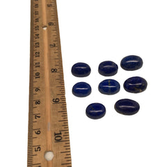 92 cts, 8 pcs, Natural Oval Shape Lapis Lazuli Cabochons @Afghanistan, Lot107