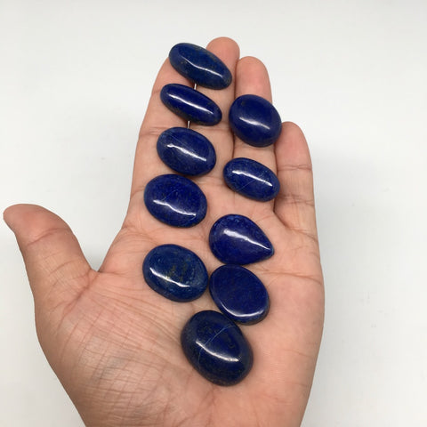 295cts, 10pcs,Natural Oval Shape Lapis Lazuli Cabochons @Afghanistan,Lot116