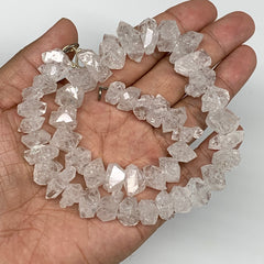 11-20mm, 48 Bds, 78.7,Large Natural Terminated Diamond Quartz Beads Strand 16""
