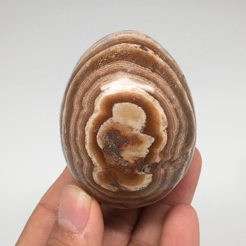"178.4g, 2.4""x 1.8"" Natural Banned Aragonite Polished Egg from Morocco, MF3298"