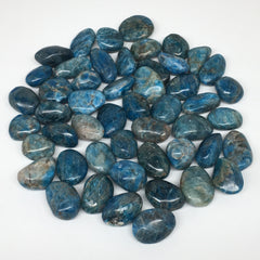 "1pc, 10-20g,1""x-1.5"" Blue Apatite Tumbled Small Gemstone Polished Reiki, B1807"