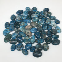 "1pc, 5-15g,0.7""x-1.4"" Blue Apatite Tumbled Small Gemstone Polished Reiki, B1808"
