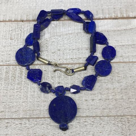 35.8g, 10mm-25mm, Natural Lapis Lazuli Mixed Shape Beads Strand,24 Beads,LPB271