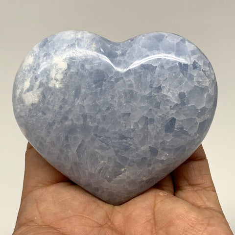 "183.2g,2.6""x2.9""x1.1"" Blue Calcite Heart Gemstones Reiki Energy @Madagascar,B218"
