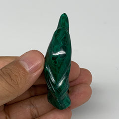 "36.8g, 2.1""x1.1""x0.6"" Natural Solid Malachite Penguin Figurine @Congo, B7395"