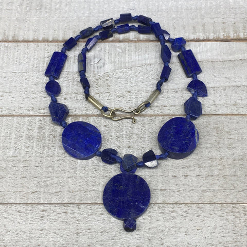35.4g, 6mm-25mm, Natural Lapis Lazuli Facetted Beads Strand,27 Beads,LPB278