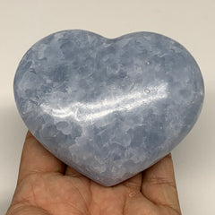 "318.6g,3""x3.5""x1.3"" Blue Calcite Heart Gemstones Reiki Energy @Madagascar,B2191"