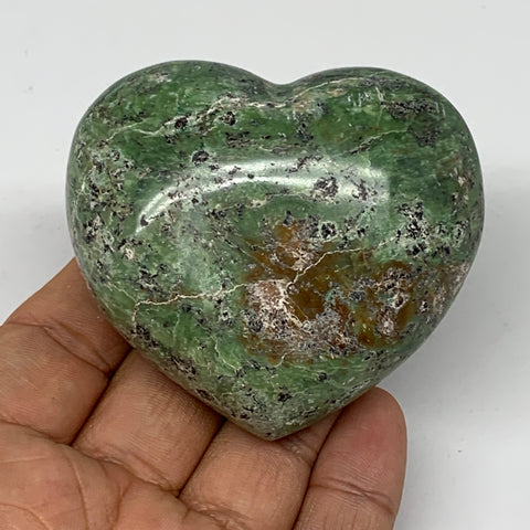 "149g,2.3""x2.6""x1.3"" Natural Green Chrysoprase Heart Crystal Reiki Energy,B4776"