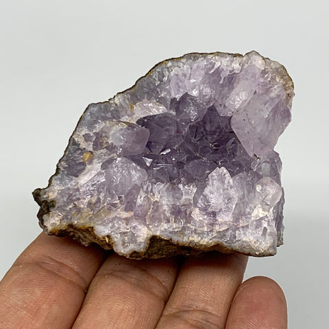 "102.6g, 2.3""x2.3""x1.2"", Natural Amethyst Cluster Mineral Specimen @Morocco,B1104"