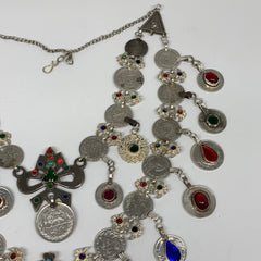 Kuchi Necklace Vintage Afghan Turkmen Tribal Coins 2 Layer Necklace Handmade CN1