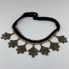 Turkmen Choker Necklace Vintage Afghan Kuchi Tribal Turquoise Inlay Choker CN206