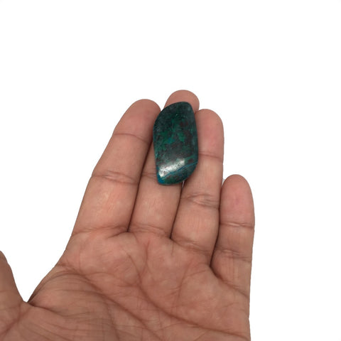 "11.3g, 1.4""x 0.7"" Sonora Sunset Chrysocolla Cuprite Cabochon from Mexico, SC97"