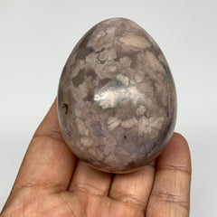 "189.8g, 2.5""x1.9"" Natural Flower Agate Egg Gemstone Crystal @Madagascar, B2918"