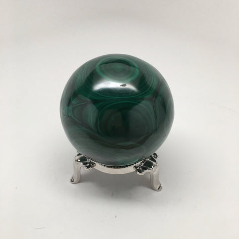 470.8 Grams Shiny Glassy Polished Green Natural Malachite Sphere @Congo,D830 - watangem.com