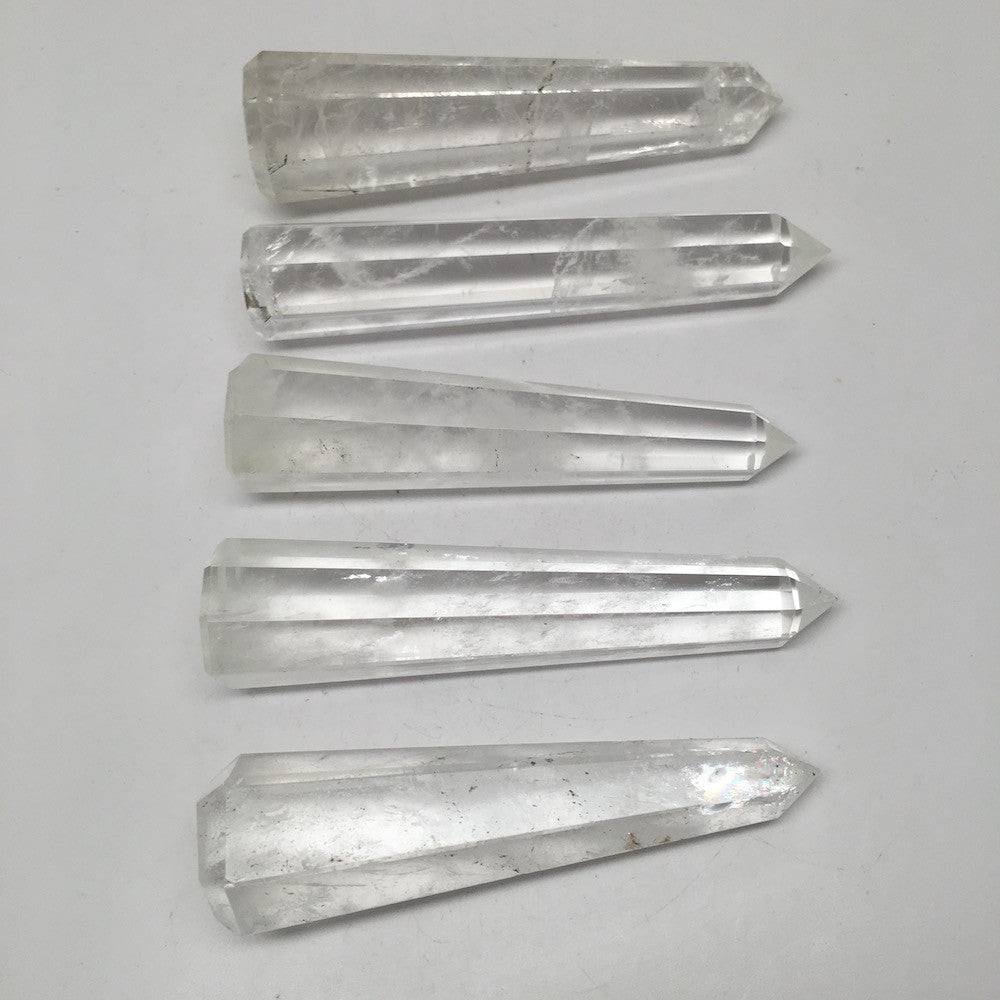 1pc Handmade Clear Quartz Crystal Obelisks Massage Healing @India, SW91 - watangem.com