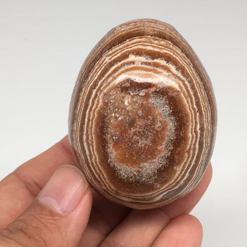 "143.7g, 2.2""x 1.7"" Natural Banned Aragonite Polished Egg from Morocco, MF3212"