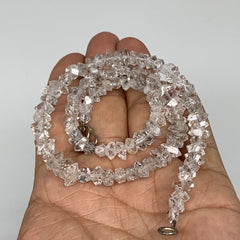 "5-9mm, 107 Bds, 21.1g, Natural Terminated Diamond Quartz Beads Strand 16"",DQ596"