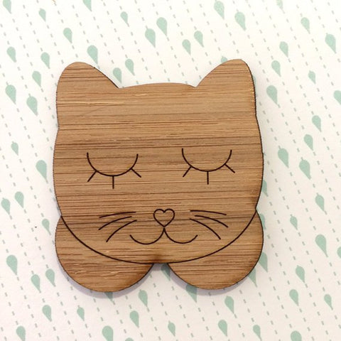 Kitty Face Duo - Bamboo