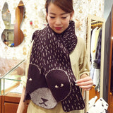 DW - Brown Bear Shawl Scarf