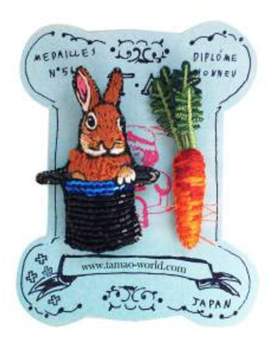 TM - MBC1991 Badge Magician's hut rabbit and Carrot