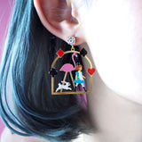N2 - AMAL105 ALICE AND THE PINK FLAMINGO CLIP-ON EARRINGS